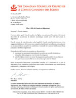 Lettre d'accompagnement