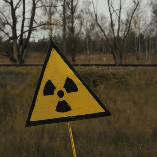 nuclear site sign