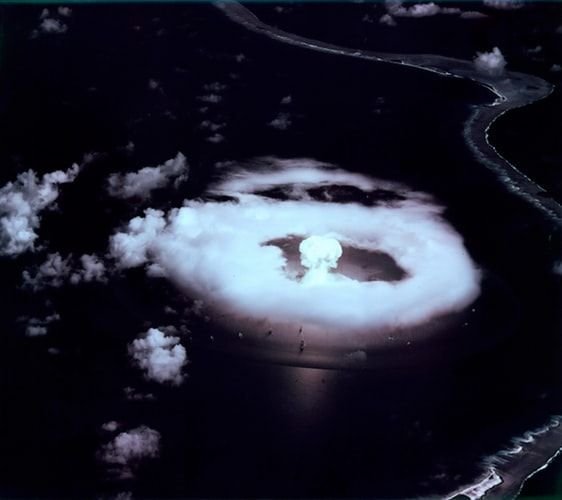 """""""A-Day"""" First atomic bomb explosion at Bikini in the Marshall Islands 1 July 1946."""
